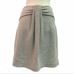 St.John Couture Taupe wool Skirt Sz 6